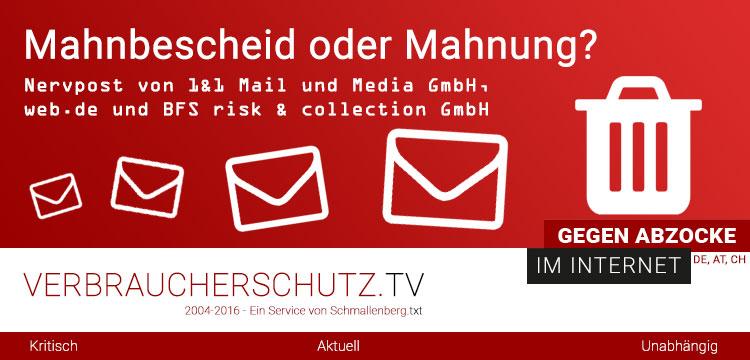 Mahnbescheid Oder Mahnung Nervpost Von 11 Mail Und Media Gmbh