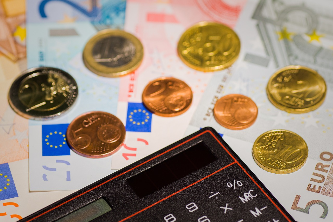 Taschenrechner Geld sparen